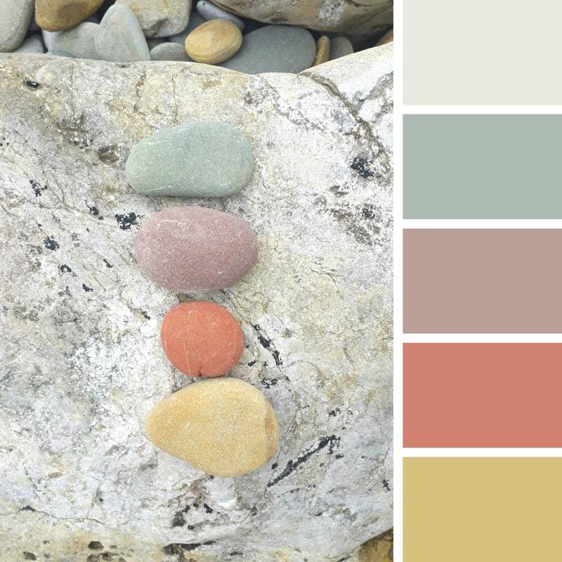 Beach pebbles colour palette