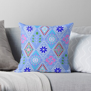 Diamania Redbubble Throw Pillow