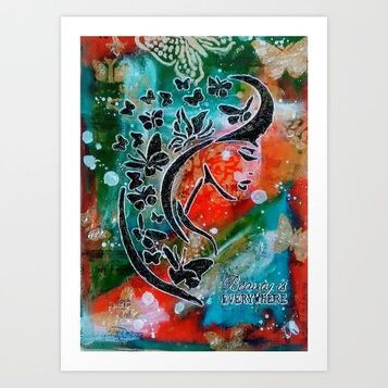 Madam Butterfly Art Print