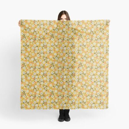 Dancing Blossom Yellow Fabric